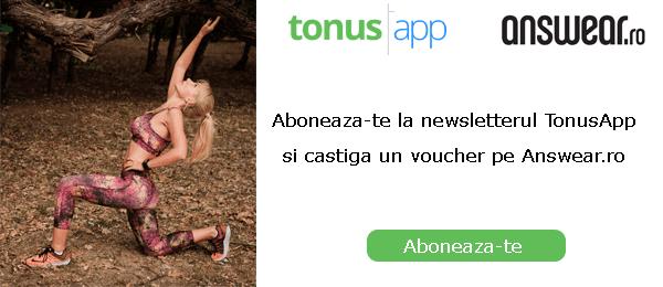 Aboneaza-te la TonusApp si castiga un voucher pe Answear